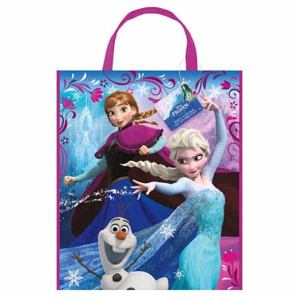 La bolsa de asas de plástico congelada de Disney - 13 x 11 pulgadas / 33 x 28 cm