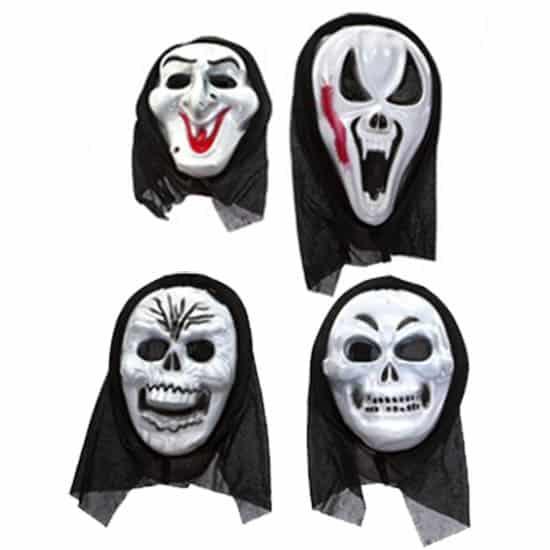 Máscara de Halloween de plástico blanco Horror