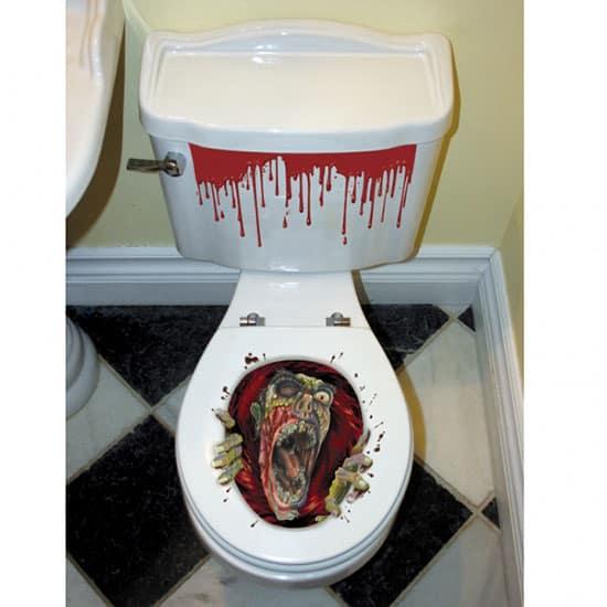 Asiento del inodoro Zombie de Halloween Grabber