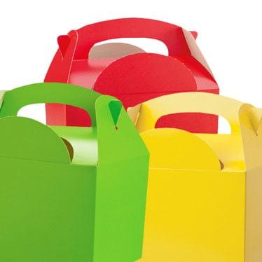 Cajas de fiesta de color liso