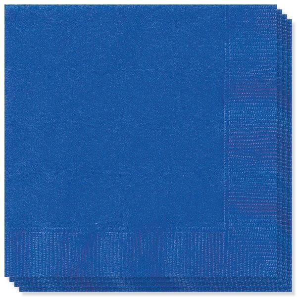 Servilletas azul real de 2 capas - 13 pulgadas / 33 cm - Paquete de 100