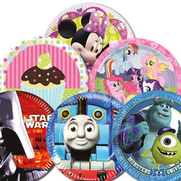 Platos de fiestas temáticas para niños