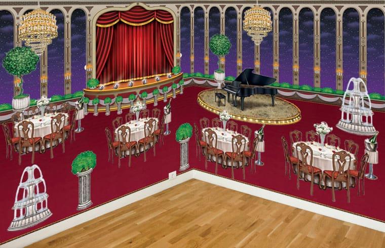 Lazo Negro Salón de Baile Escena Setters