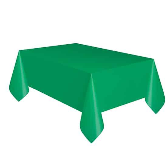 Mantel De Plástico Verde Esmeralda 274Cm X 137Cm
