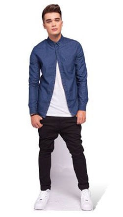 Union J Josh Cuthbert Lifesize para recortar de cart??n - 175cm