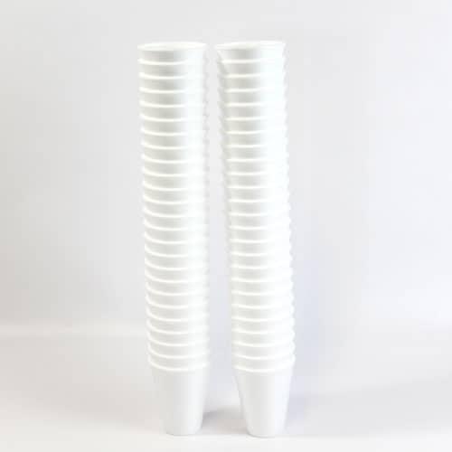 Blanco Poly Copas - 200ml - Paquete de 50