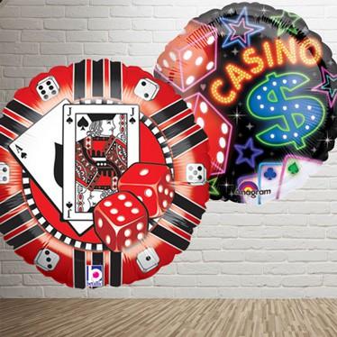 Globos y accesorios del tema del casino