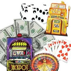 Recortes de cartón tamaño natural de la vida del casino