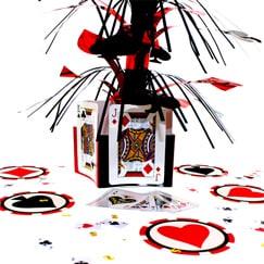 Decoraciones de mesa de tema de casino