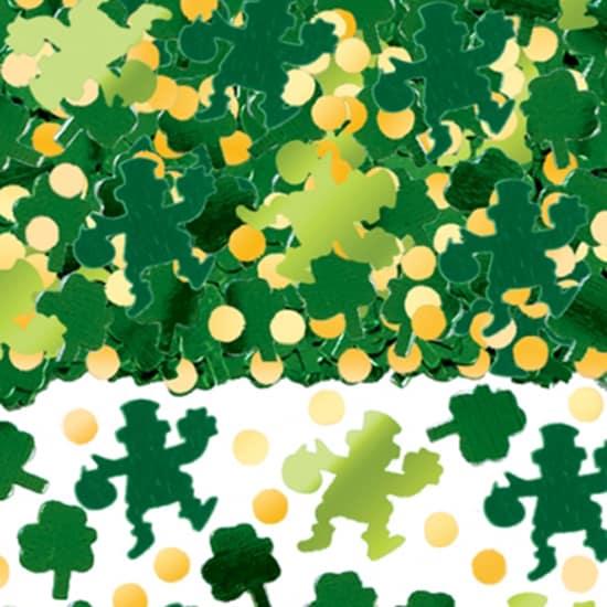 Irland??s que Leprechaun y Shamrock Tabla Confeti - 70 Gramos
