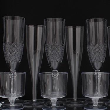 Copas de vino y flautas