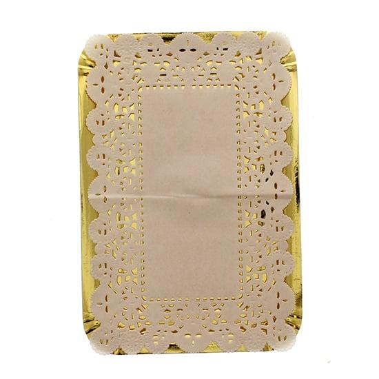 Grandes oro Platters papel con tapetitos - 15 pulgadas / 37.5cm - vendido individual