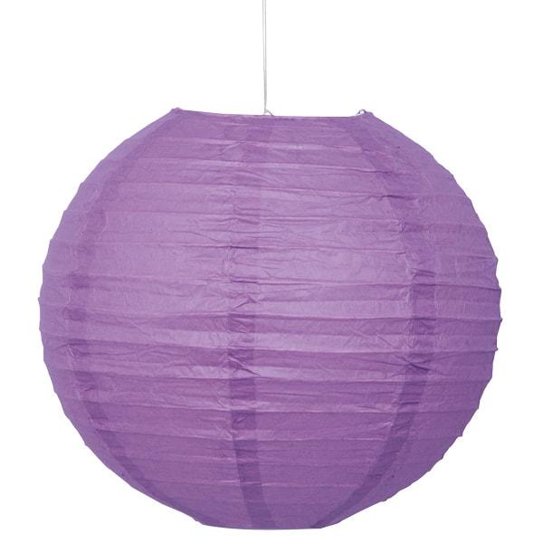 Púrpura Colgando Alrededor De Linterna De Papel