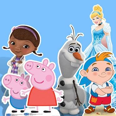 Recortes de cartón de tamaño natural para niños y dibujos animados