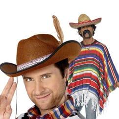 Sombreros, máscaras y disfraces de México