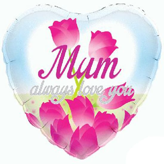 Mamá Siempre Te Amo Globo Con Forma De Corazón - 18 Pulgadas / 46Cm