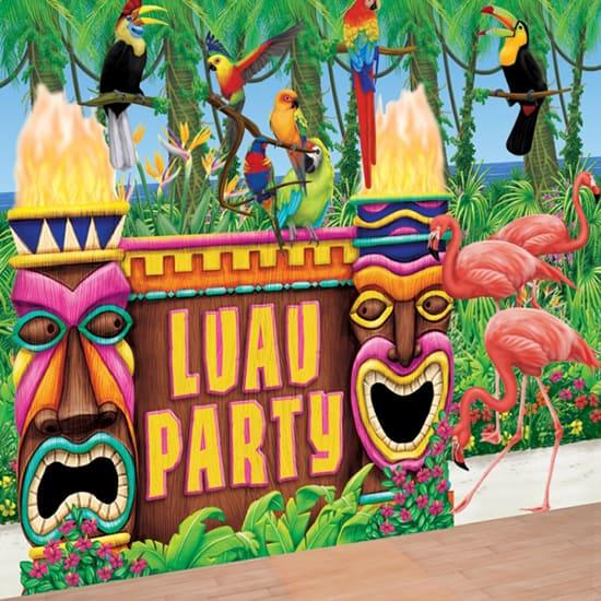 Rollo De Sala De Decoradores De La Fiesta Luau Y Kit De Decoración De Complementos
