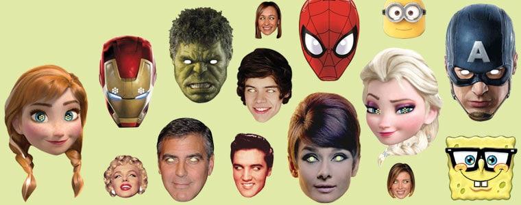 Máscaras de celebridades