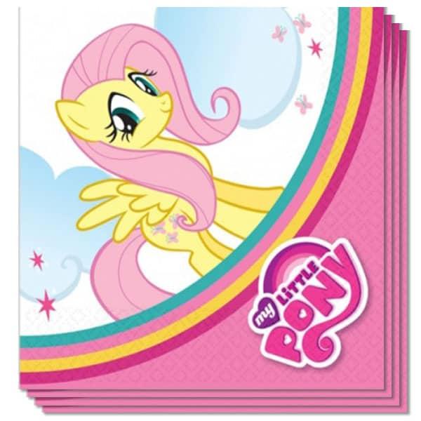 Mis Servilletas De Almuerzo Mi Pony Pequeño 2 Capas - 13 Pulgadas / 33 Cm - Paquete De 20