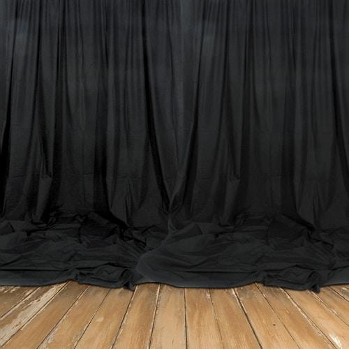 Telón De Fondo Negro Real - Decomolton 160Gsm - Caída De 3M - Vendido Por Metros