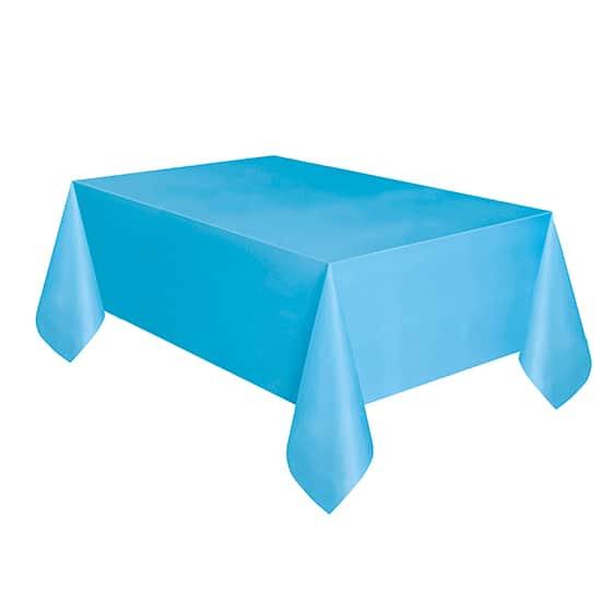 Mantel De Plástico Azul Polvo 274Cm X 137Cm