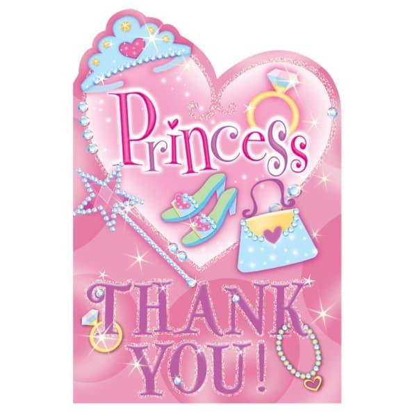 Princesa Prismática Gracias Con Sobres - Paquete De 8