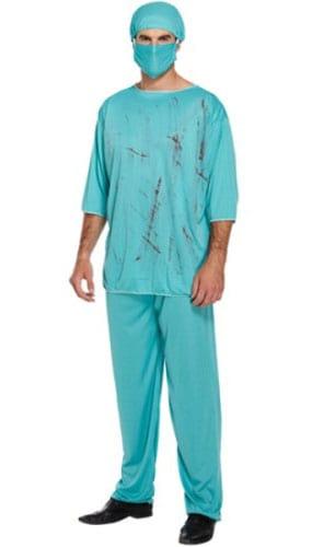 Sangrientas Adultos De Disfraces Vestido De Lujo Del Cirujano