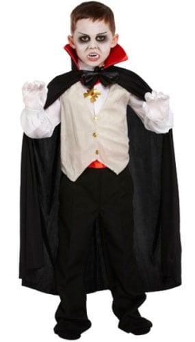 Disfraz De Vampiro Clásico 10 - 12 Años De Disfraces Para Niños