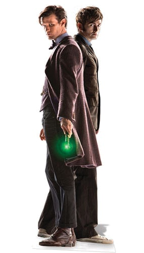 Dr. Who 10Th & 11Th Doctor (50 Aniversario Especial) Recorte De Cartón - 183Cm