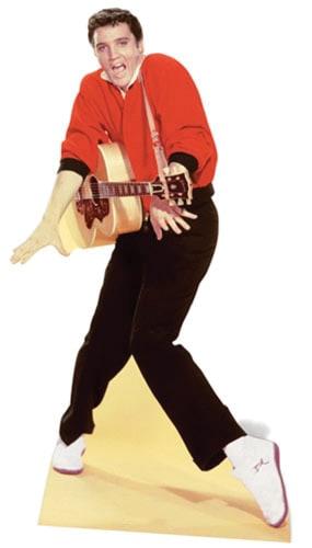 Elvis Chaqueta Roja Y Guitarra Recorte De Cartón De Tamaño Natural - 186 Cm