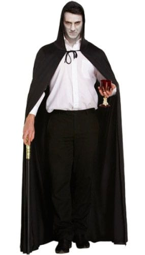 Poliéster Capa Negra Halloween Adultos Disfraces