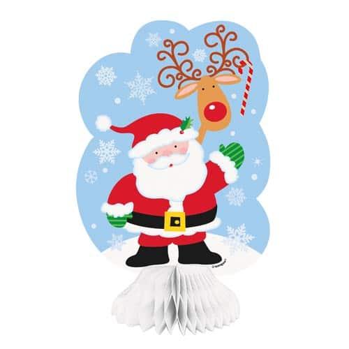 Decoracion Panal De Santa - Pack De 3