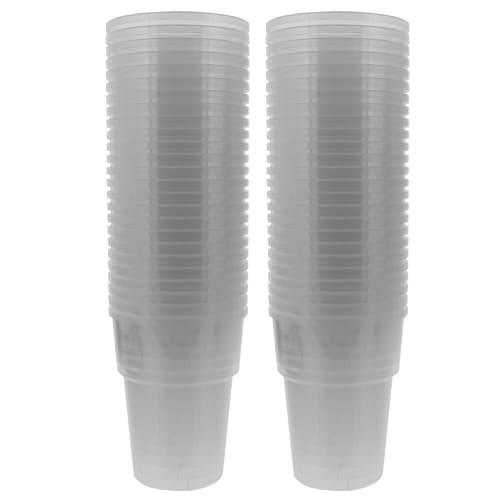 Vasos De Media Pinta De Plástico - 10 Oz / 284Ml - Paquete De 50