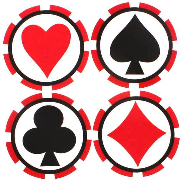 8 Posavasos Tem??ticos de Casino