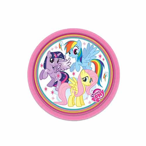 Mi Plato De Papel Redondo Pequeño Pony - 7 Pulgadas / 18 Cm