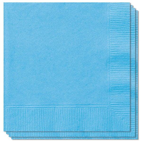 Servilletas De 2 Capas Azul Polvo - 33Cm - Paquete De 100