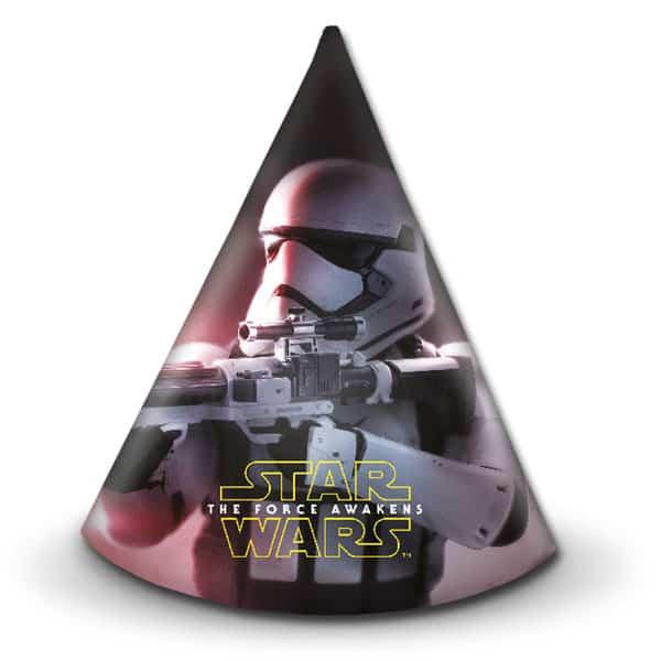 Star Wars Force Despierta Sombreros De Fiesta De Cono - Paquete De 6