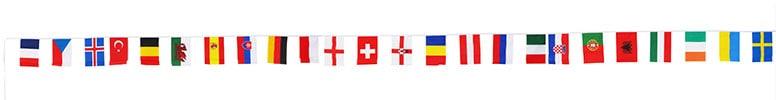 Euro 2016 Bunting - 24 banderas