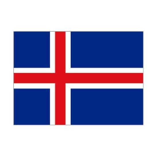 La bandera de Islandia - 5 x 3Ft