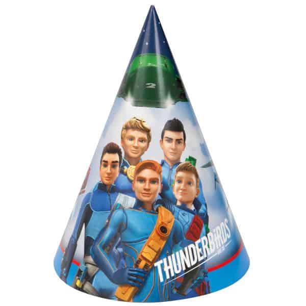 Sombrero de los Thunderbirds de parte de cono - Paquete de 8