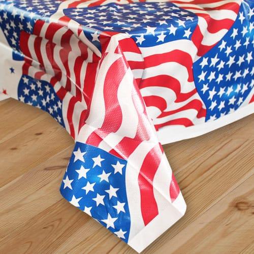 Bandera De Ee. Uu. Mantel De Plástico 213Cm X 137Cm