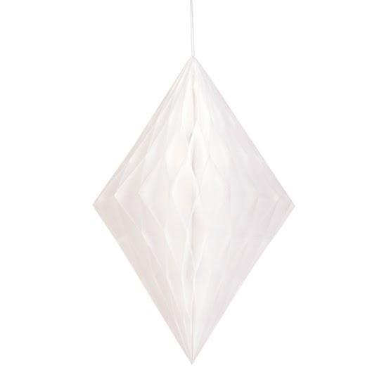 Diamante blanco de nido de abeja decoración colgante