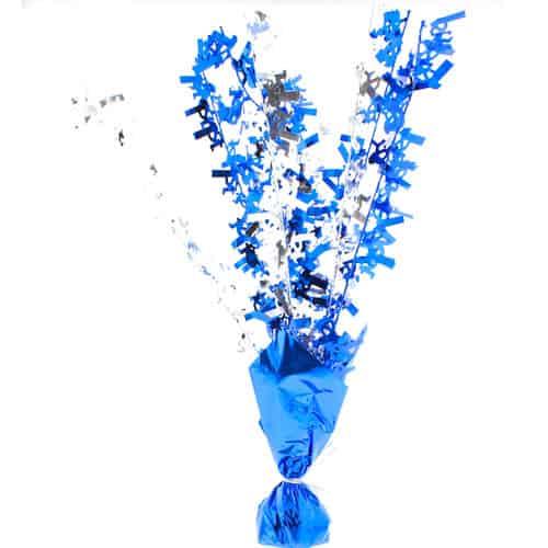 Glitz azul 1r cumpleaños feliz Centrepiece