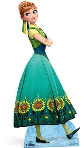 Frozen Anna en el vestido verde Figura de cartón tamaño natural - 168cm