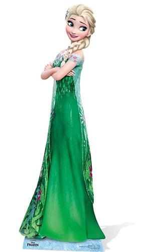 Frozen Elsa En Tamaño verde vestido Vida Figura de cartón - 182cm
