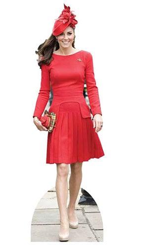 Kate Middleton En Vestido Rojo Figura de cartón tamaño natural - 189cm