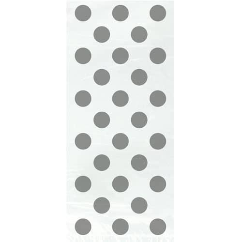 Plata Dots decorativos bolsas de regalo - Paquete de 20