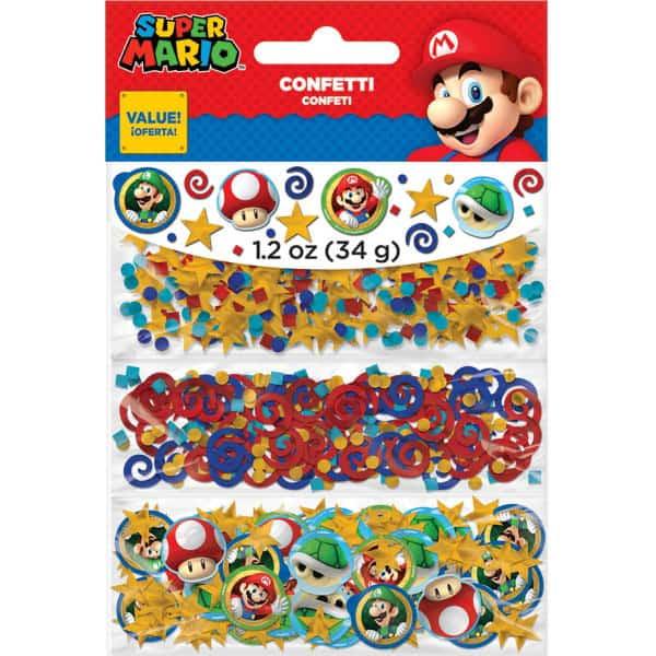 Super Mario confeti -34 Gramos - Pack de 3