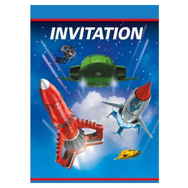 Thunderbirds invitaciones con sobres - Paquete de 8
