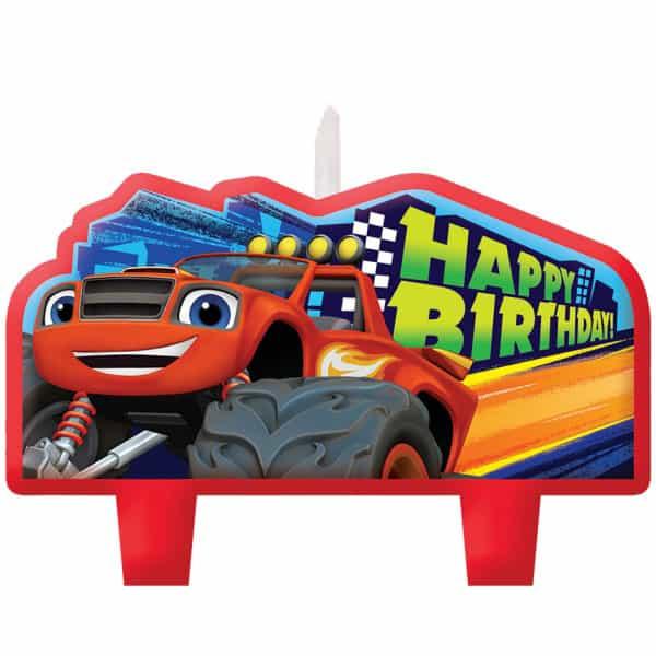 Blaze Velas del Feliz Cumpleaños - Paquete de 4